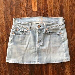 7 For All Man Kind Denim Mini Skirt